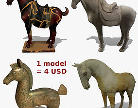 MISC Horse Statuettes Collection 2 3D model