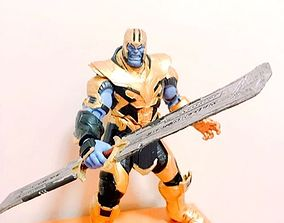 games Thanos Sword EndGame Cosplay prop 3D model