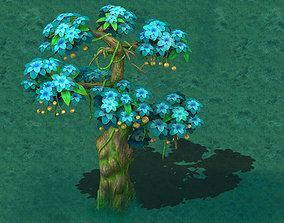 3D model Cartoon version - wonderful fruit tree