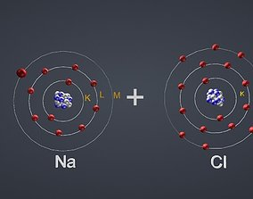 3D model Ionic Bond NaCl