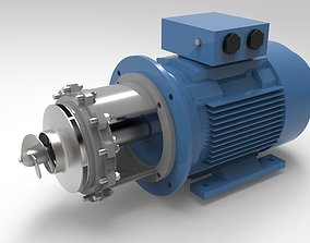 3D printable model pump monoblock