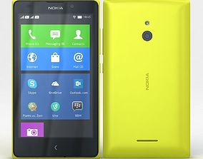 3D model Nokia XL and XL Dual Yellow