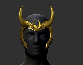 loki horns 3D printable model