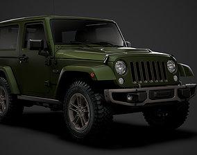 3D Jeep Wrangler 75th Anniversary JK 2018