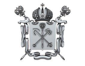 3D print model Coat of arms of Saint Petersburg