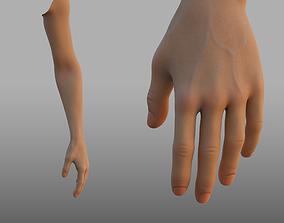 3D rigged hand anatomy