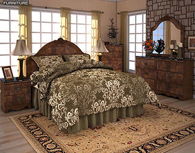 3D model Ashley Buckingham Panel Bedroom Set