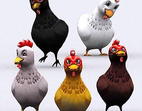 3DRT - Chibii Chicken animated