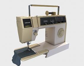 Detailed Sewing Machine - PBR 3D asset