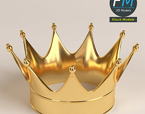 3D Gold crown 1