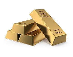 3D model Gold bar wealth