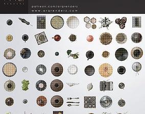 3D model Cutouts collection