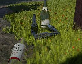 Bottles pack 1 3D model