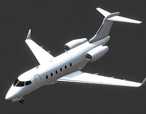 Bombardier BD-100 Challenger 300 Jet Private 3D model