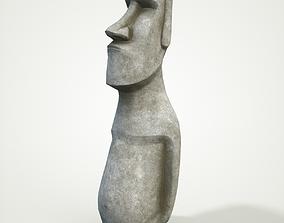 3D asset Moai statue 4k Bonus Printable
