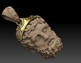 GREEK POSEIDON PENDANT 3D MODEL