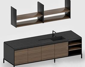 Molteni DADA vvd kitchen island unit 3D model