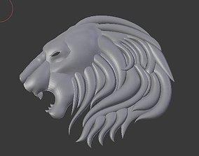 3D printable model Lion head fur