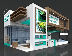 Exhibition Stand Booth Stall 11x7m Height 500cm 3D model 2