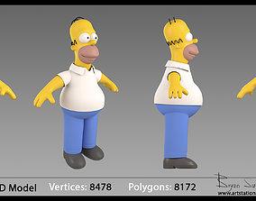 Homer Simpson 3D Model character