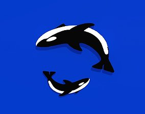 3D model Orca mother is son
