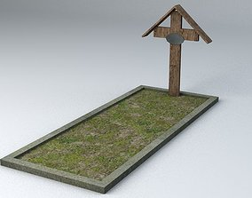 grave Grave 1 Game Ready Low Poly 3D asset