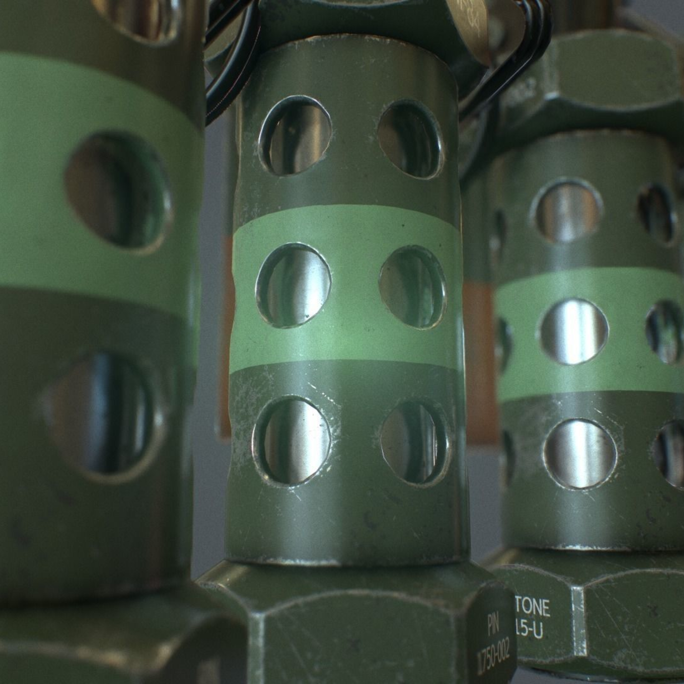 Stun Grenade - Low Poly Game Model