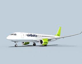3D Bombardier CS100 Air Baltic
