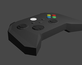 Lowpoly Gamepad 3D asset