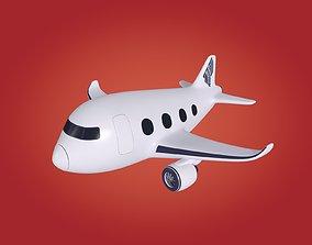 3D model low-poly Cartoon Plane