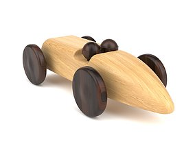 3D model Wooden toy car 20