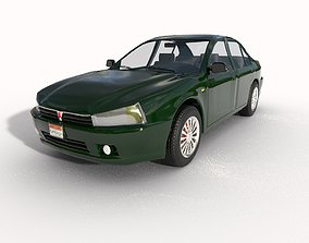 3D model Mitsubishi mirage 2000