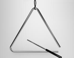 Triangle Instrument 3D Model VR / AR ready