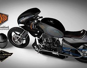 3D model Motorcycle modified sport