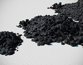Coal Model Pack - Black Brown Anthracite realtime