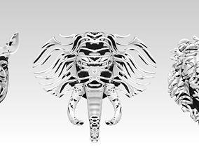 3D print model Jungle Safari set Wire Frame Elephant Lion