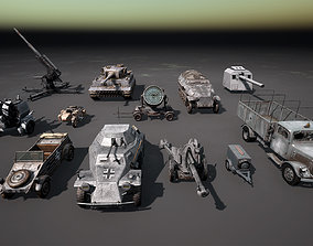 3D asset WW2 German Vehicle Mega Pack
