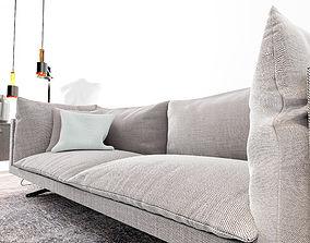 3D Oslo sofa living area