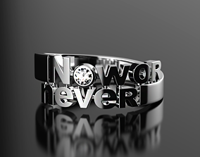 3D printable model Now or never ring
