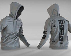 3D model hoodie sweatshirt