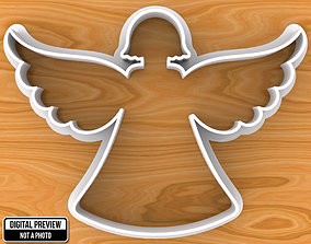 Angel Cookie Cutter god 3D print model