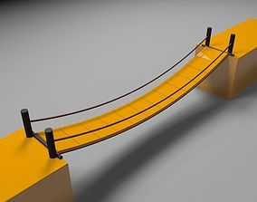 3D asset Dynamic bridge with gravity and wind