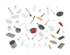 Kitchenware Pack 3D asset