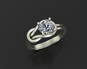 cad Engagement ring 3D print model