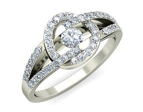 Diamond Ring For Ladies rings gift 3D print model