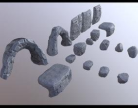 Rocks Asset low-poly