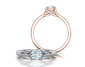 Engagement ring 3dmodel Half carat Stone 4claw design