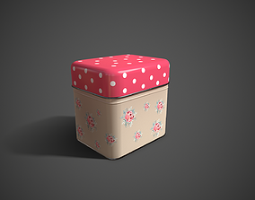 3D model realtime Steel Tin Box