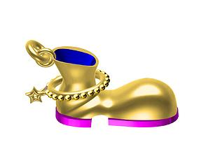 3D printable model boot pendent