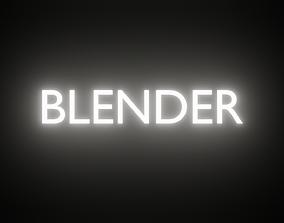 Glitch Effect - made in Blender 3D model